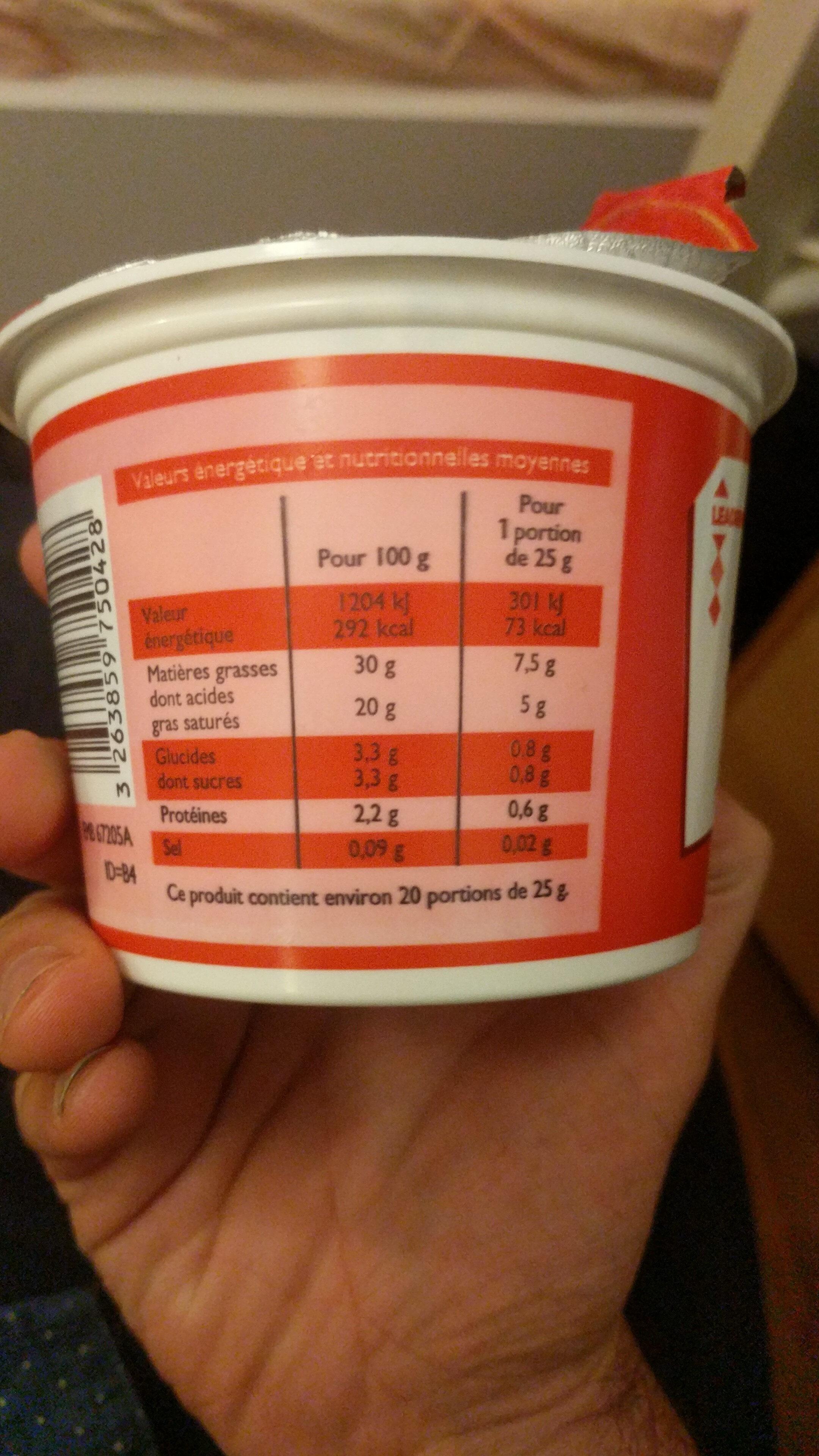 Crème fraîche épaisse - Nutrition facts - en