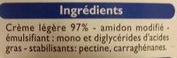 Crème semi-épaisse légère (18 % MG) - Ingredients