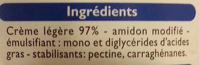 Crème semi-épaisse légère (18 % MG) - Ingrediënten - fr