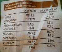 Le Moelleux aux céréales et graines - Nutrition facts - fr