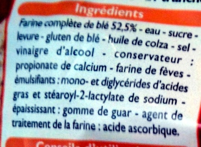 Pain de mie sans croûte - Ingredienti - fr