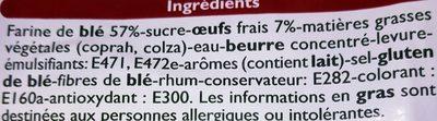 Brioche Tranchée Pur Beurre - Ingrediënten