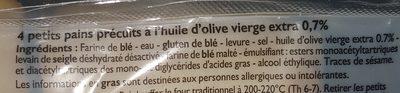 Ciabattines - Ingrediënten - fr