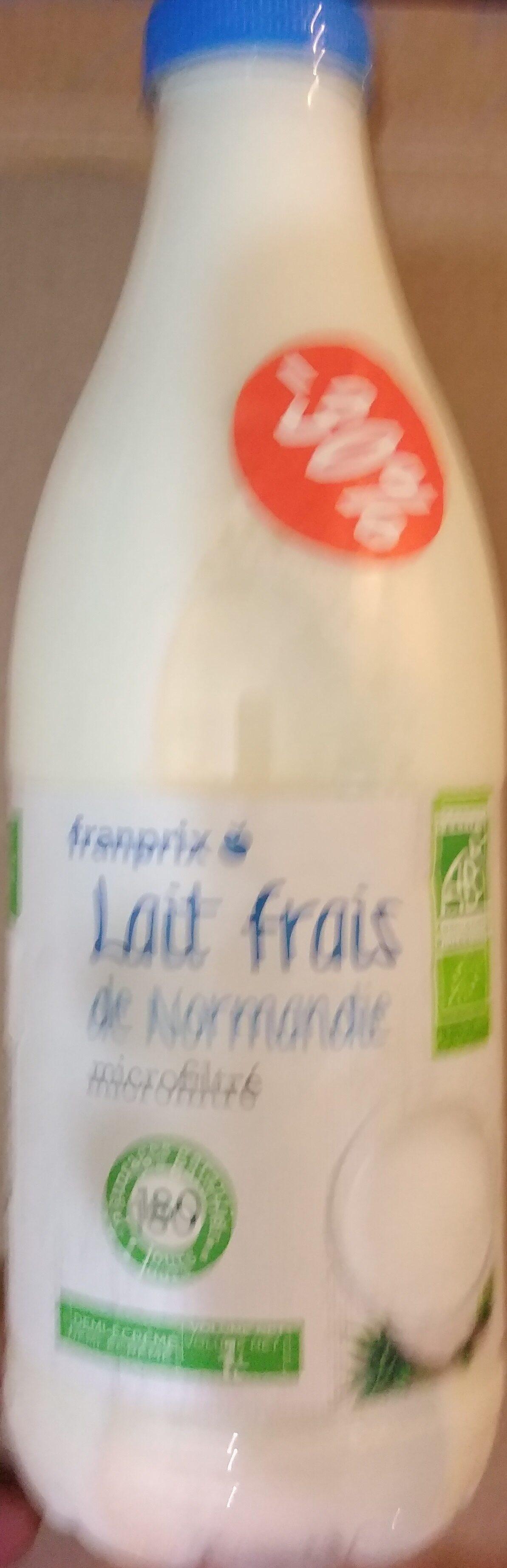 Lait frais de Normandie microfiltré demi-écrémé - Produit - fr