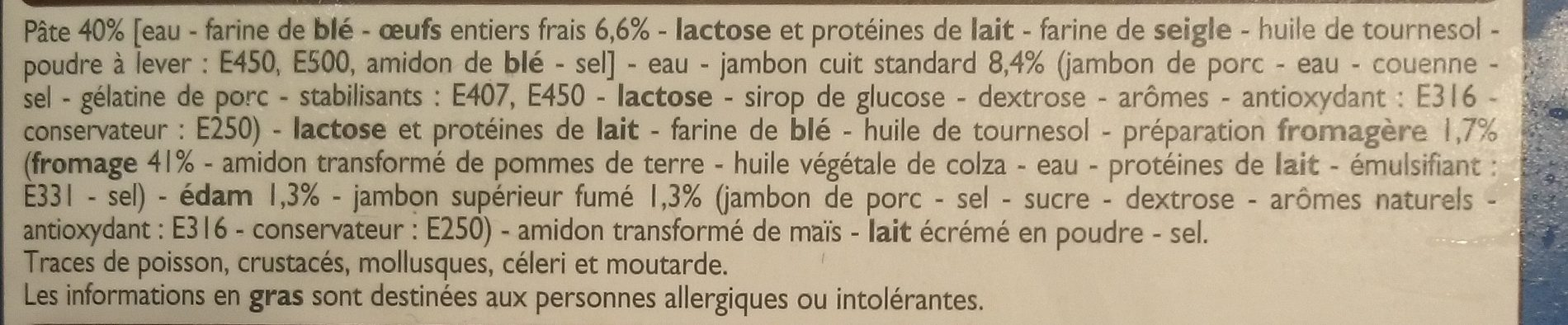 Crêpes Jambon fromage - Ingrédients - fr