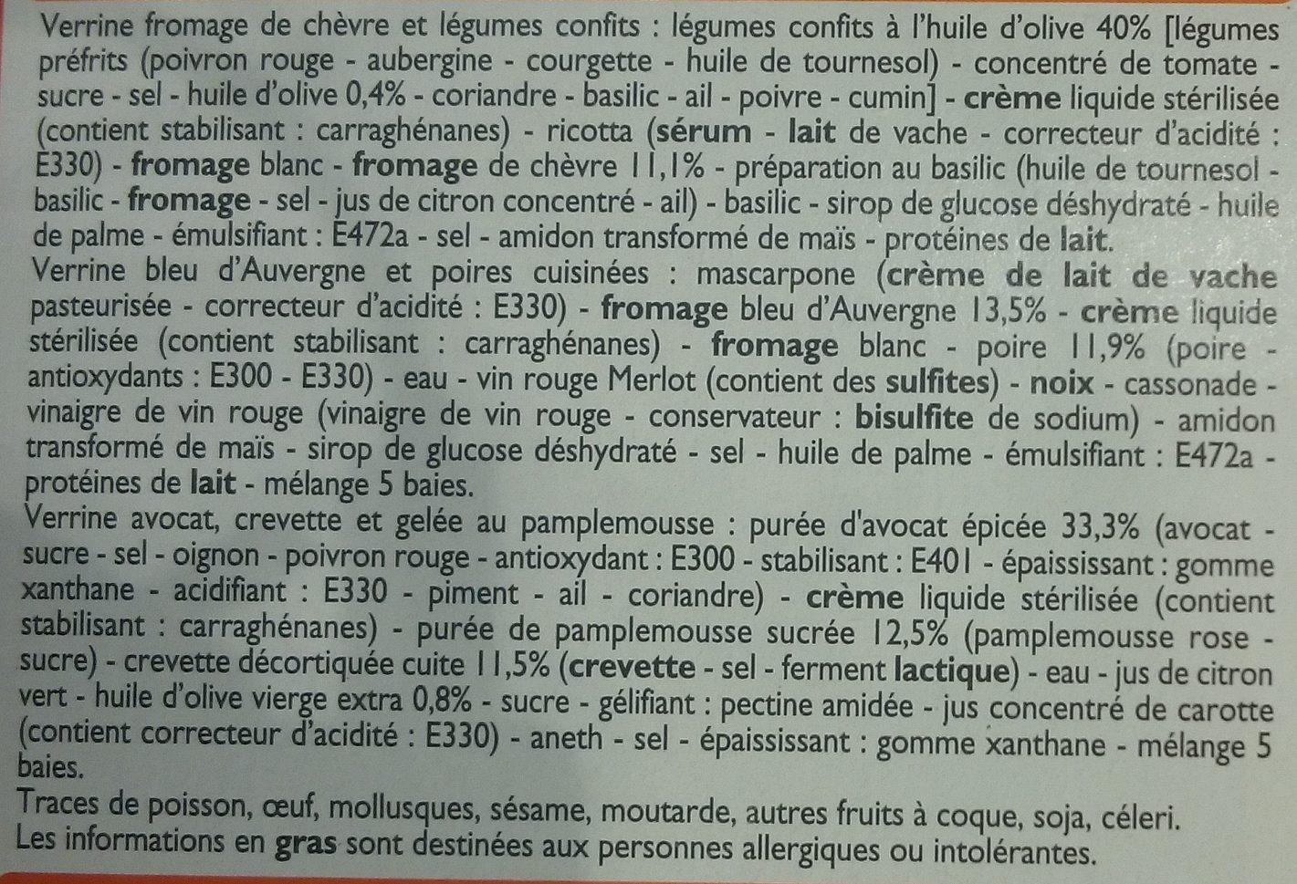 Verrines Salées Apéritives - Ingrediënten - fr