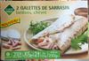 2 Galettes de Sarrasin lardons, chèvre - Produit