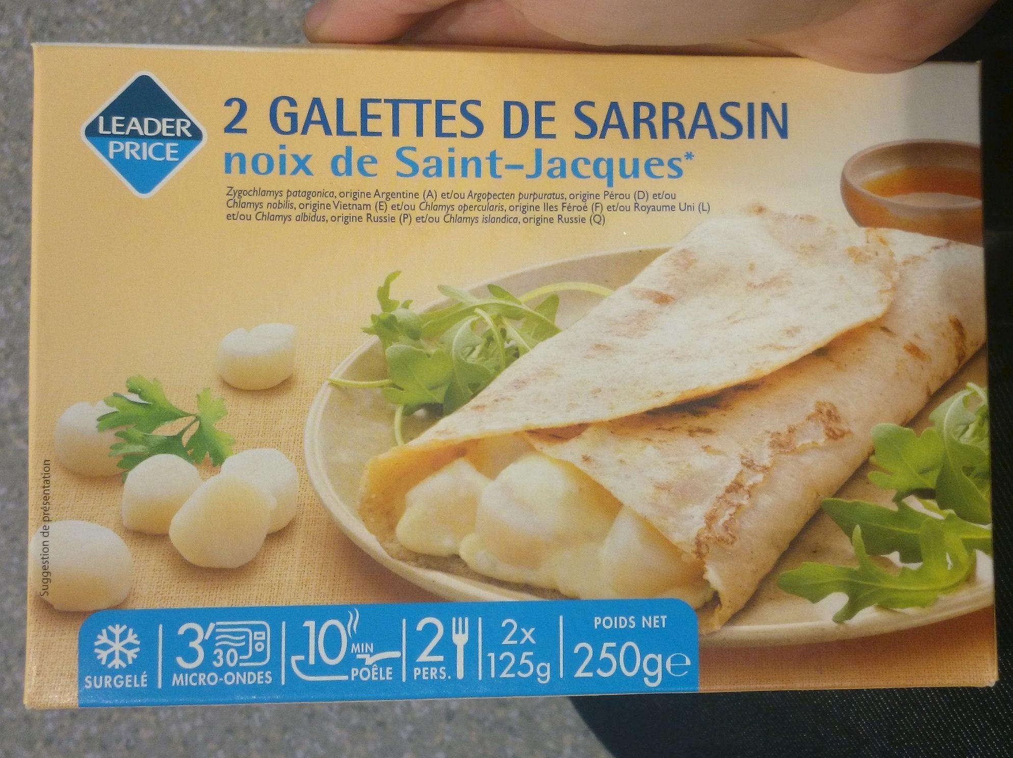 2 Galettes de Sarrasin Noix de Saint-Jacques - Product