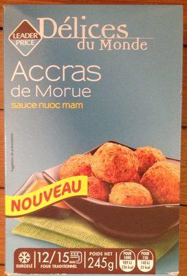 Accras de Morue sauce Nuoc Mam - Product
