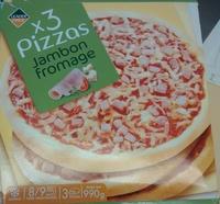 Pizzas Jambon Fromage (x 3), Surgelé - Produit