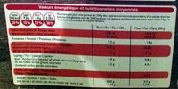 Pizza Jambon Fromage, Cuite sur pierre - Nutrition facts - fr