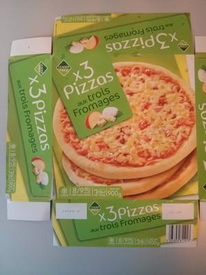 3 pizzas aux trois fromages - 1