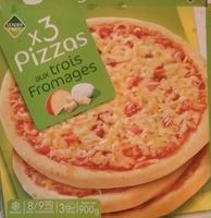 3 pizzas aux trois fromages - Product - fr