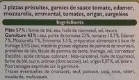 3 pizzas aux trois fromages - Ingredients - fr