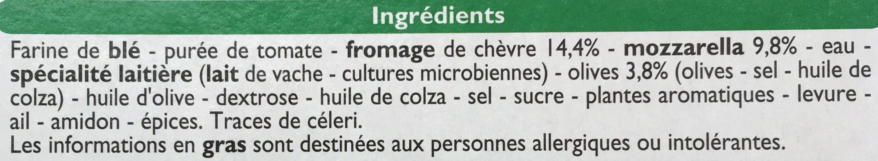 Pizza Chèvre, Cuite sur pierre - Ingrediënten