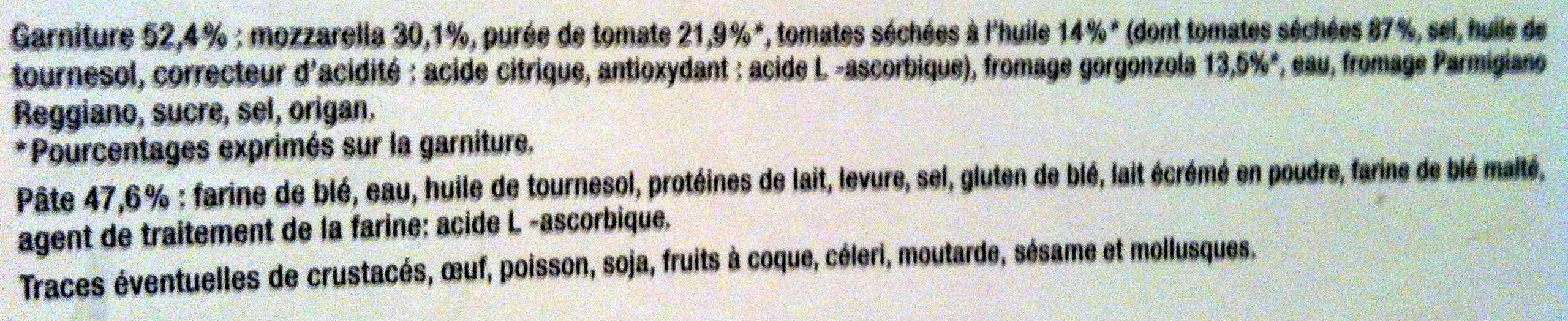 Pizza tomates séchées et gorgonzola - Ingrédients