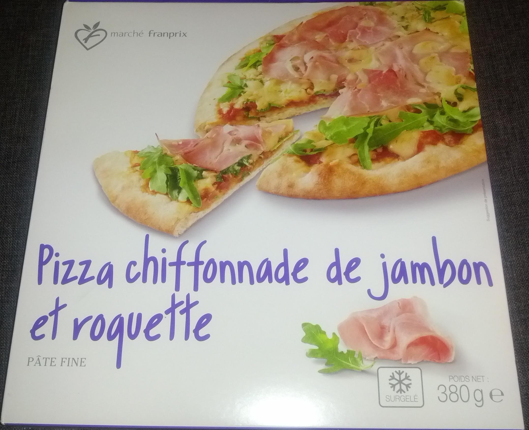Pizza chiffonnade de jambon et roquette, Surgelé - Produit - fr