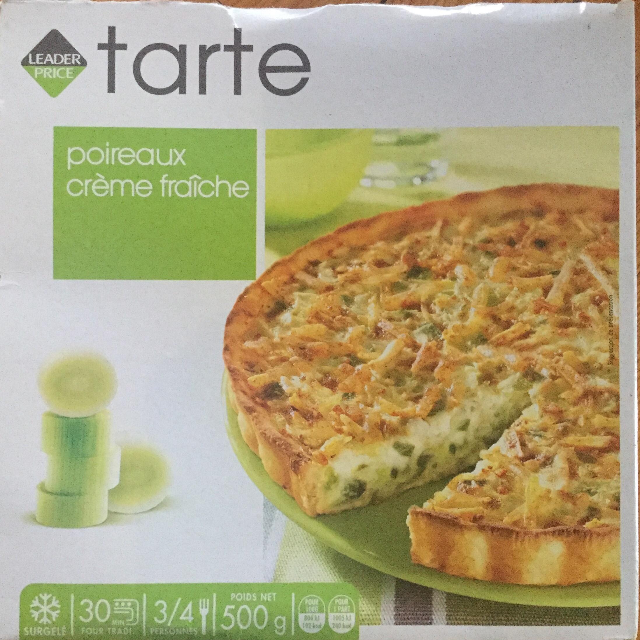 Tarte poireaux crème fraîche - Product - fr