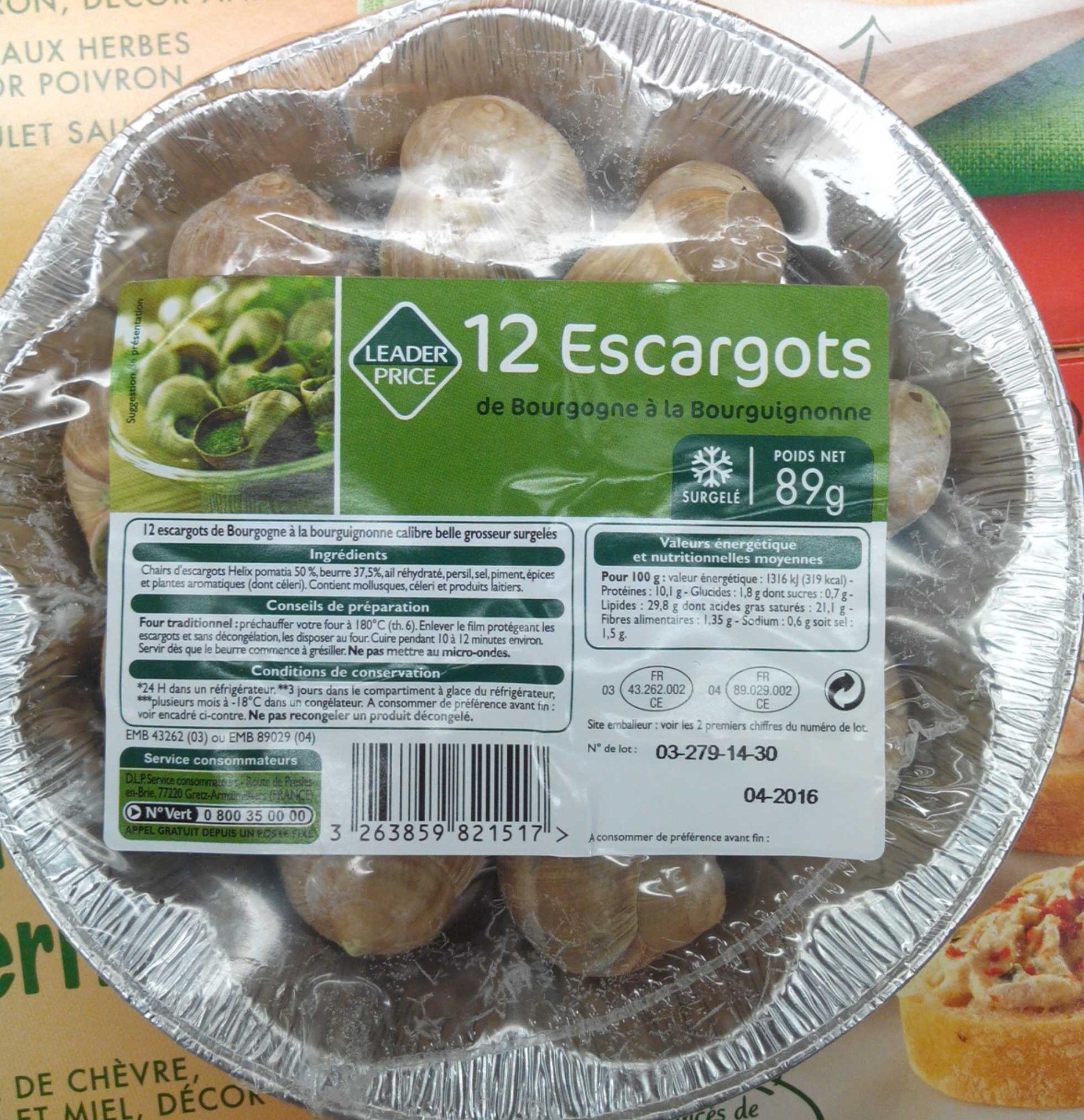 Escargot nutritional value