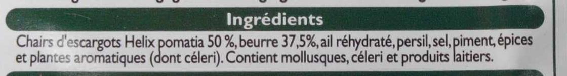 12 escargots de Bourgogne à la bourguignonne - Ingrediënten - fr