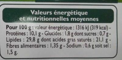 12 escargots de Bourgogne à la bourguignonne - Voedingswaarden - fr