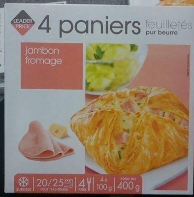 4 Paniers Feuilletés Pur Beurre Jambon Fromage - Produit - fr