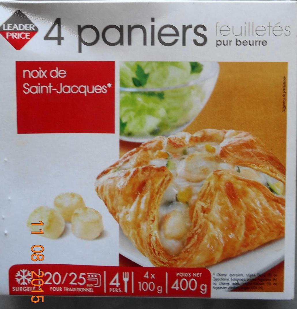 Paniers feuilletés noix de Saint-Jacques* - Produit - fr