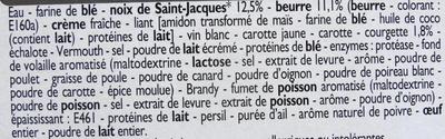 Paniers feuilletés noix de Saint-Jacques* - Ingrédients - fr