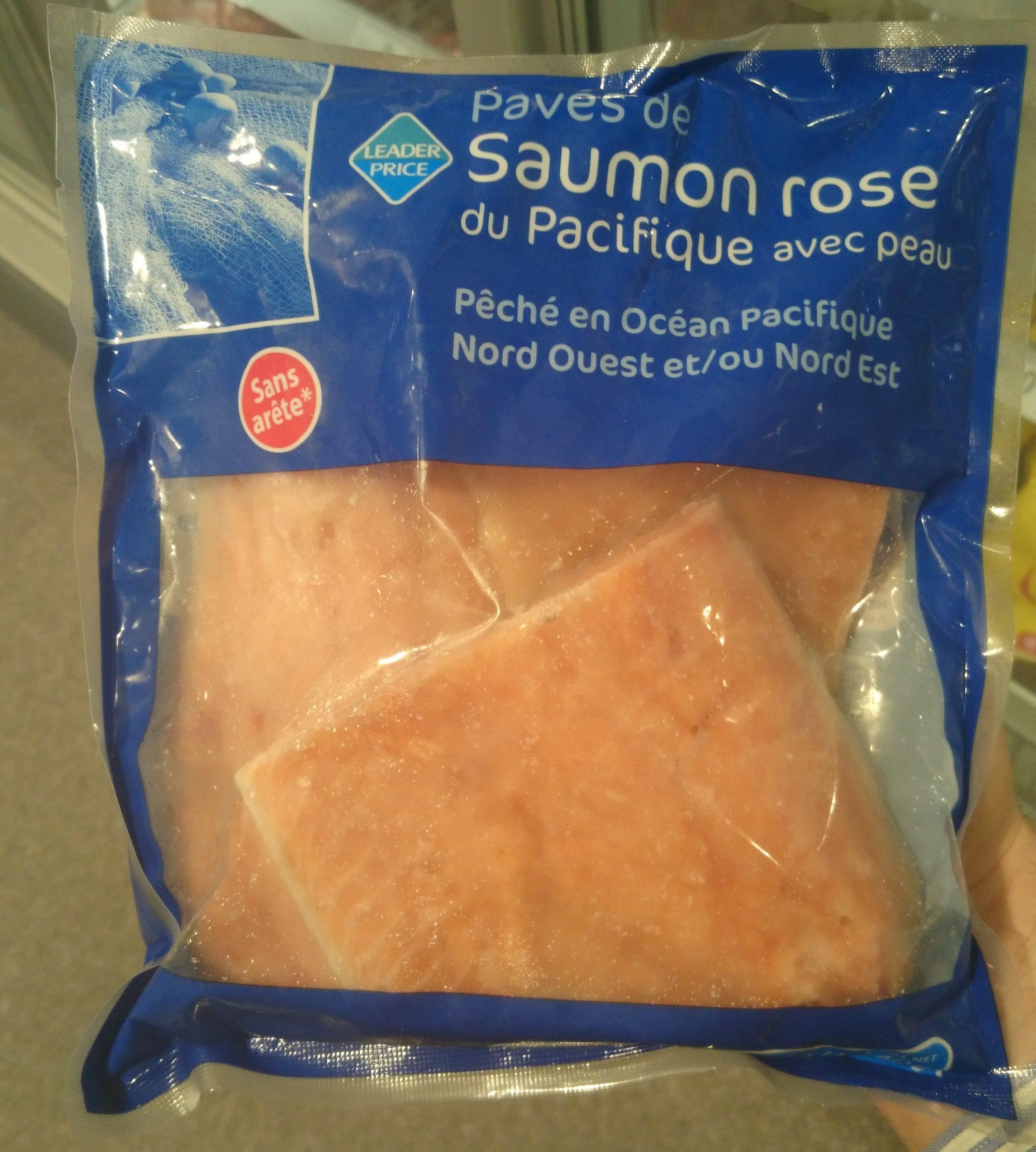 pav s de saumon rose du pacifique avec peau leader price 500 g. Black Bedroom Furniture Sets. Home Design Ideas