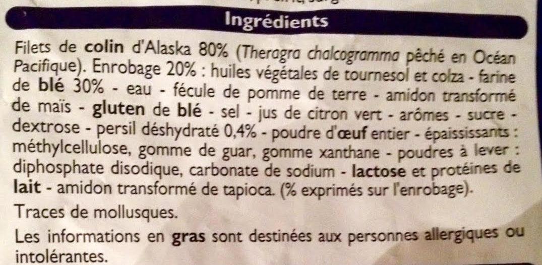 Filets Meunière de Colin d'Alaska - Ingredients