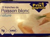 10 tranches de poisson blanc nature - Product