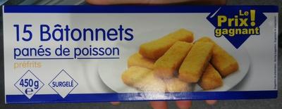 15 Bâtonnets panés de poisson - Product - fr