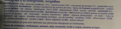 Lasagnes à la bolognaise - Ingrédients