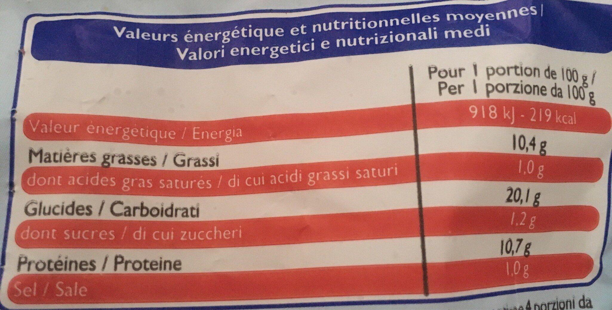 Nuggets de Poisson Surgelé - Informations nutritionnelles - fr