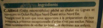 Fillets de cabillaud sauvage - Ingredients - fr
