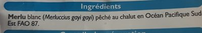 Filets de Merlu Blanc avec Peau - Ingrédients