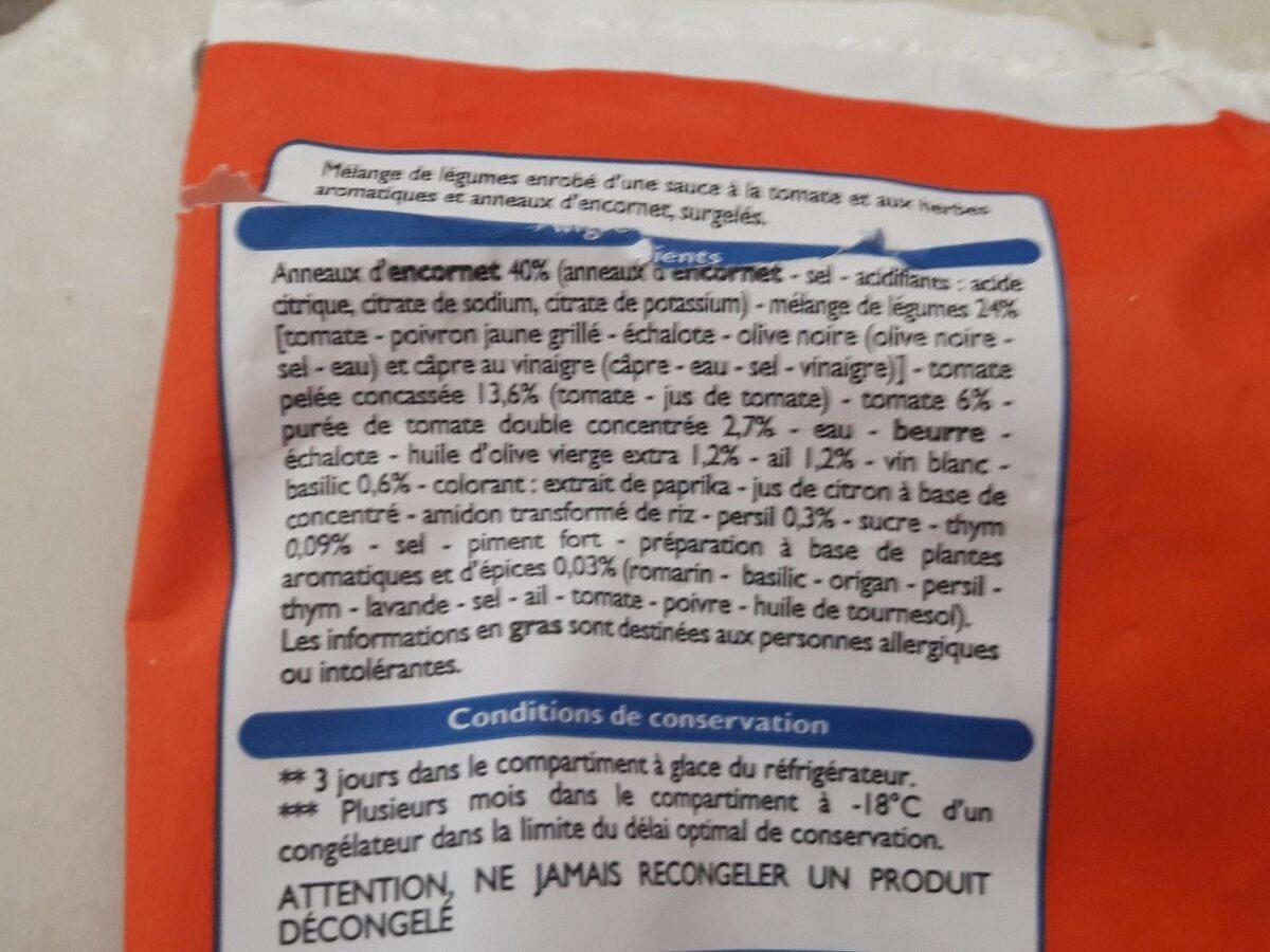 Poelée d'encornets à la provençale - Ingrédients - fr