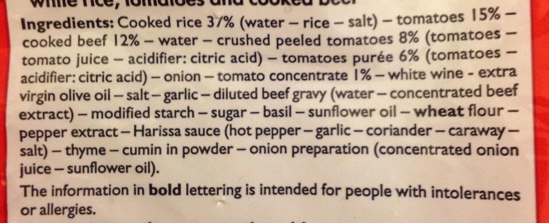 Poêlée façon tomates farcies - Ingredients