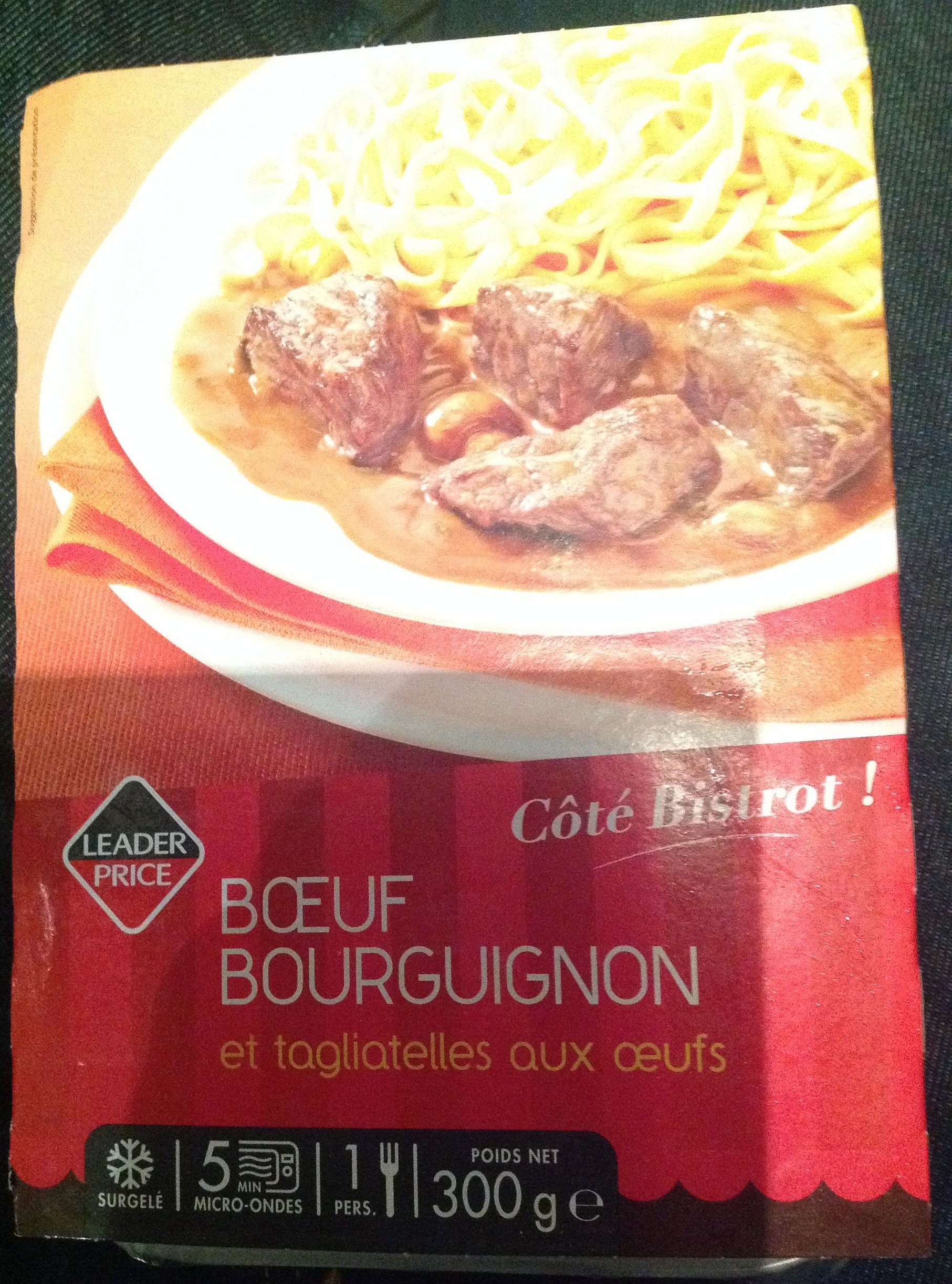 Bœuf Bourguignon et Tagliatelles aux Œufs, Surgelé - Produit - fr