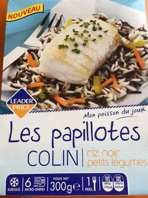 Les papillotes colin riz noir petits legumes - Product - fr