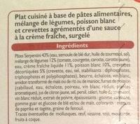 Serpentini Poisson et Crevettes, Surgelé - Ingrédients - fr