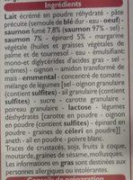 Lasagnes Saumon Épinards - Ingredients - fr