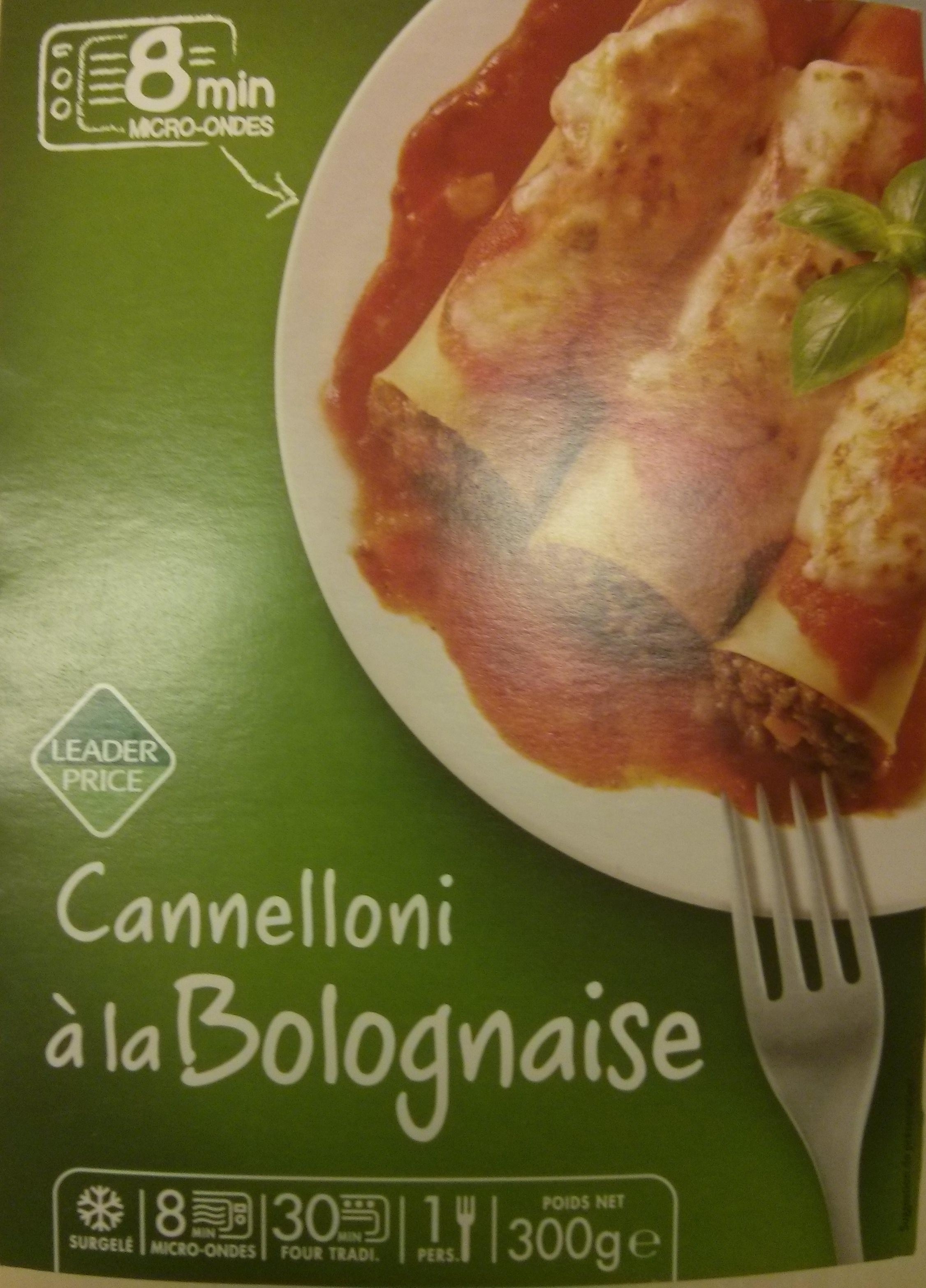Cannelloni à la Bolognaise, Surgelé - Product