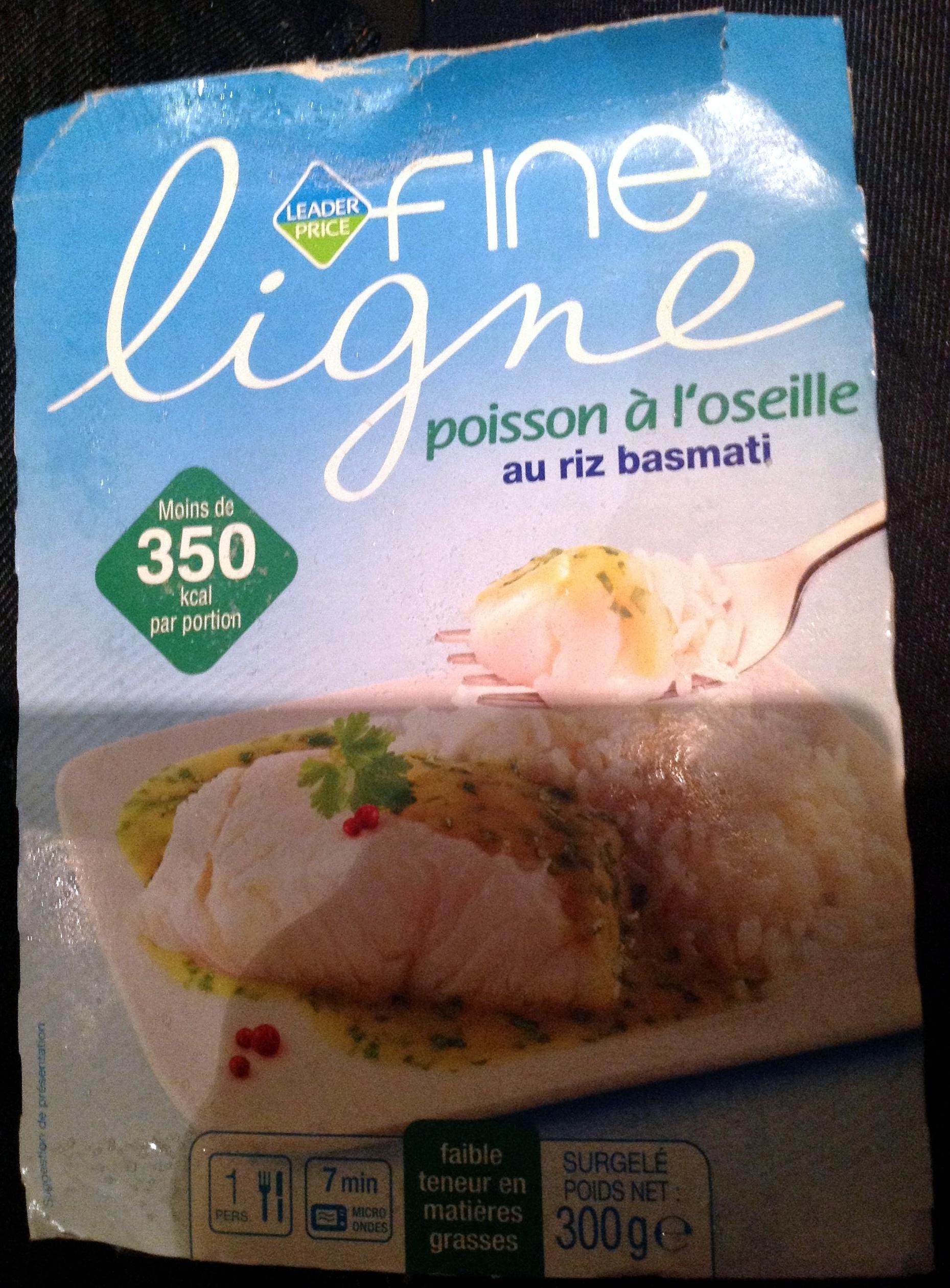 Fine Ligne - Poisson à l'oseille au riz basmati - Product - fr