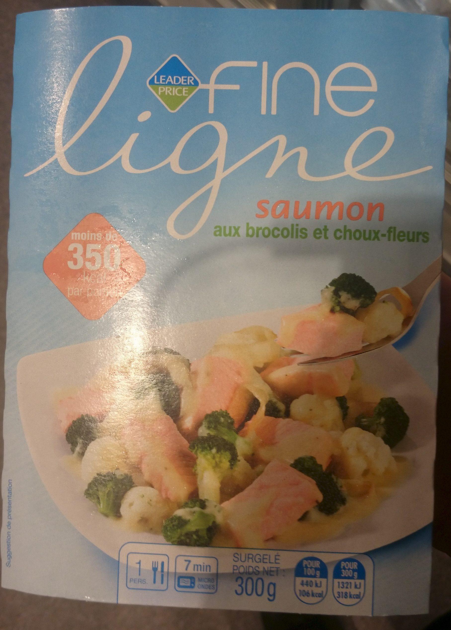fine ligne saumon aux brocolis et choux fleurs leader price 300 g. Black Bedroom Furniture Sets. Home Design Ideas