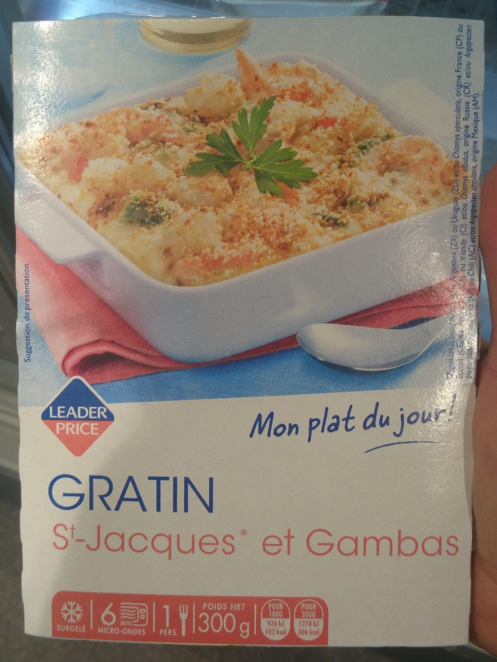 Gratin de fruit de mer Saint-Jacques et Gambas - Produit