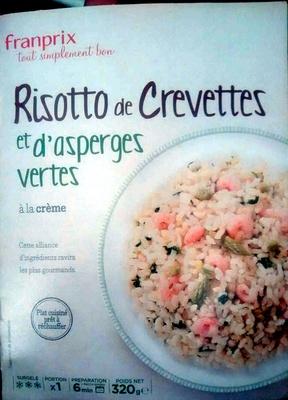 Risotto de crevettes et d'asperges vertes à la crème - Product