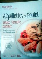Aiguillettes de Poulet Sauce Tomate Cuisinée, Polenta Crémeuse aux Champignons - Produit