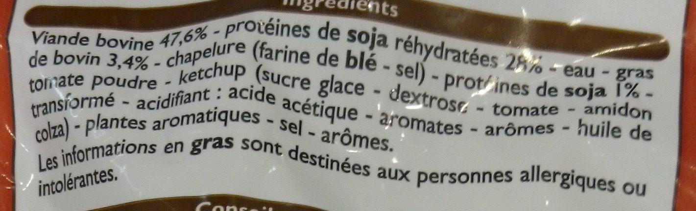Boulettes au Bœuf Nature - Ingrédients