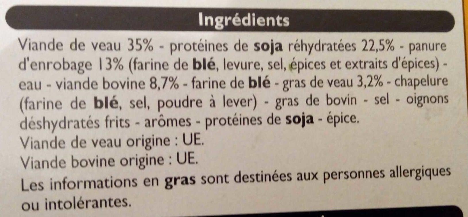 Grillad'veau - Ingrediënten - fr